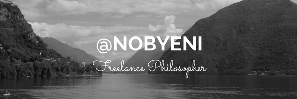 Nobyeni is a freelance philosopher and author